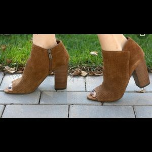 Jessica Simpson suede leather ankle booties 7.5